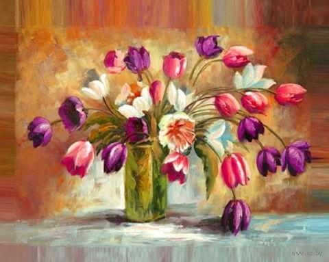 """Алмазная вышивка-мозаика """"Цветы тюльпанов"""""""