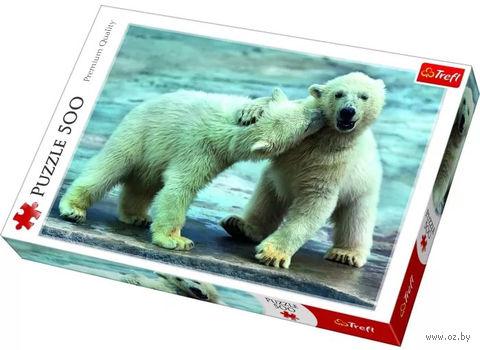 """Пазл """"Белые медведи"""" (500 элементов) — фото, картинка"""