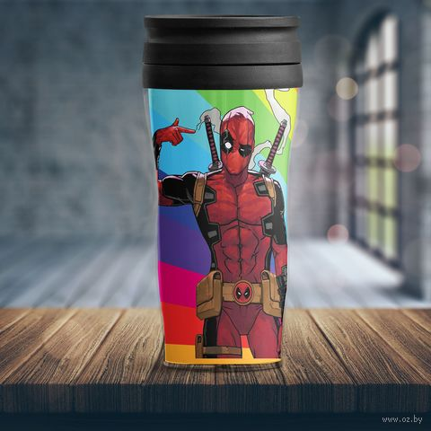 "Термостакан ""Marvel. Deadpool"" (арт. 2) — фото, картинка"