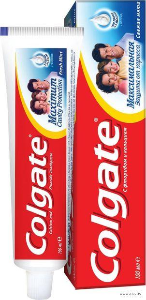 "Зубная пастa""Максимальная защита от кариеса. Свежая мята"" (100 мл) — фото, картинка"