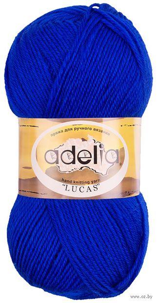 "Пряжа ""Adelia. Lucas №13"" (100 г; 218 м; синий) — фото, картинка"