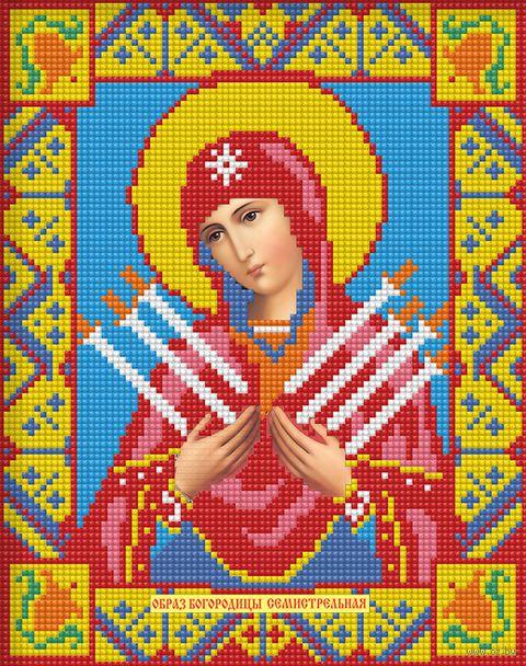 """Алмазная вышивка-мозаика """"Икона Семистрельная Богородица"""" (220х280 мм) — фото, картинка"""