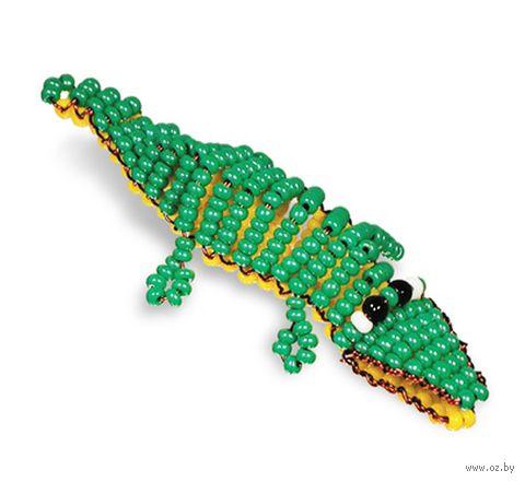 """Браслет из бисера """"Крокодил"""""""