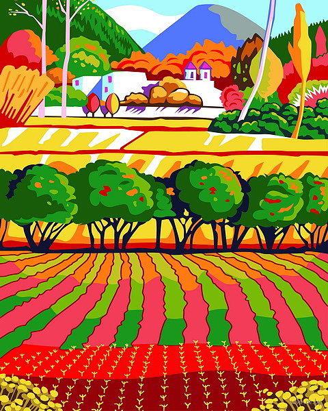 "Картина по номерам ""Радужный луг"" (500х400 мм) — фото, картинка"