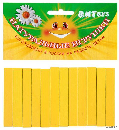 "Счетный материал ""Палочки"" (12 шт.; желтые) — фото, картинка"