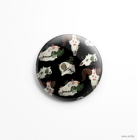 "Значок маленький ""Черепа"" (арт. 473) — фото, картинка"