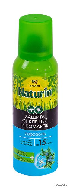 """Аэрозоль от насекомых """"Gardex. Naturin"""" (100 мл) — фото, картинка"""
