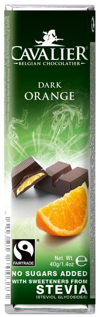 "Шоколад горький ""Cavalier. Апельсин"" (40 г) — фото, картинка"