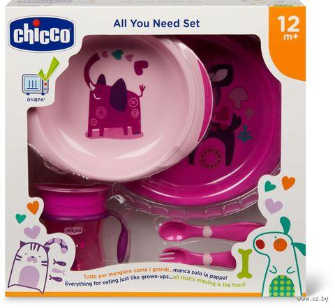 "Набор посуды ""All You Need"" (2 тарелки, ложка, вилка, поильник; арт. 16201100000) — фото, картинка"