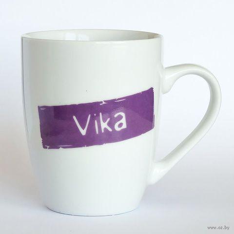 """Кружка высокая Name Is """"VIKA"""""""