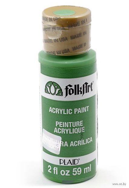 "Краска акриловая ""FolkArt. Acrylic Paint"" (ярко-зеленый, 59 мл; арт. PLD-00227)"