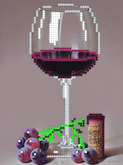 """Вышивка бисером """"Бокал вина"""" (120х160 мм) — фото, картинка"""