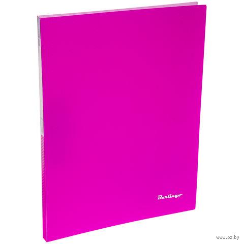 """Папка с зажимом """"Neon"""" (А4; розовая) — фото, картинка"""
