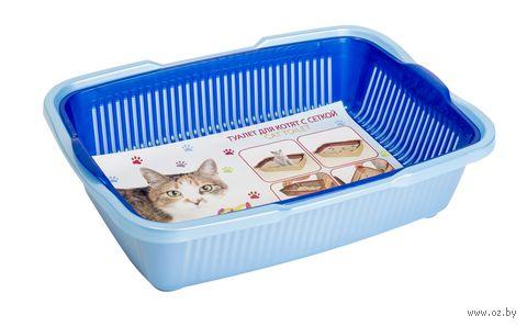 Туалет для кошек пластмассовый (36х26х9 см) — фото, картинка