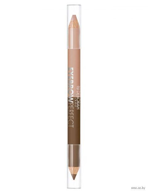 "Карандаш для бровей 2в1 ""DH Eyebrow Pencil"" (тон: 01) — фото, картинка"