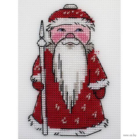 """Вышивка крестом """"Дед Мороз"""" (95х145 мм) — фото, картинка"""