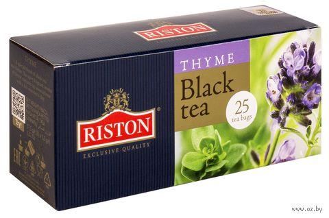 """Чай черный """"Riston. Чабрец"""" (25 пакетиков) — фото, картинка"""