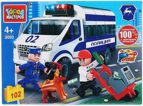 """Конструктор """"Полиция. Газель: погоня за воришкой"""" (102 детали) — фото, картинка"""