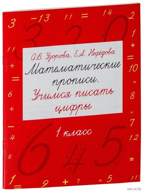 Математические прописи. Учимся писать цифры. 1 класс. Елена Нефедова, Ольга Узорова