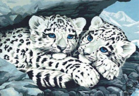 "Картина по номерам ""Снежные барсы"" (300x400 мм; арт. ME049)"
