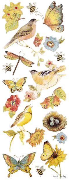 """Стикеры для скрапбукинга """"Секреты природы. Птицы"""""""