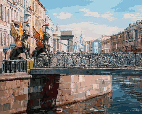 """Картина по номерам """"Грифоны Банковского моста"""" (400х500 мм)"""