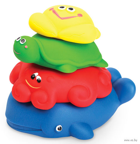 "Набор игрушек для купания ""Морская пирамидка"" (4 шт) — фото, картинка"