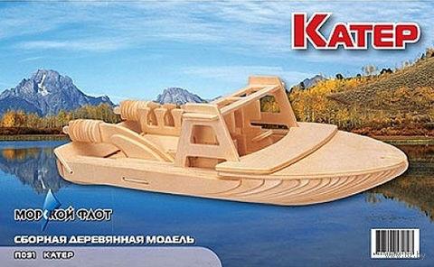 """Сборная деревянная модель """"Катер"""""""