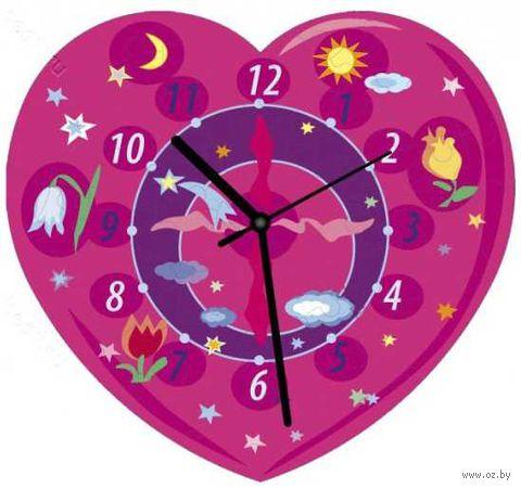 "Пазл-часы ""Сердечко розовое"" (61 элемент)"