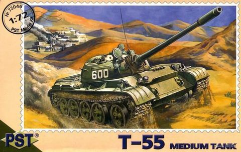 Средний танк Т-55 (масштаб: 1/72) — фото, картинка