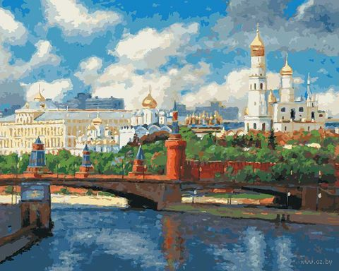 "Картина по номерам ""Московский Кремль"" (400х500 мм) — фото, картинка"