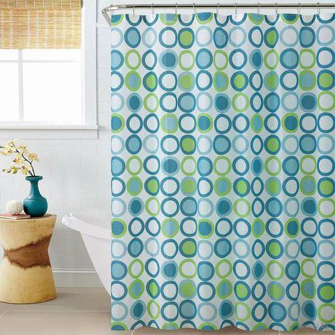 Занавес-шторка для ванной в ассортименте (180х180 см; 12 крючков; арт. 263777)