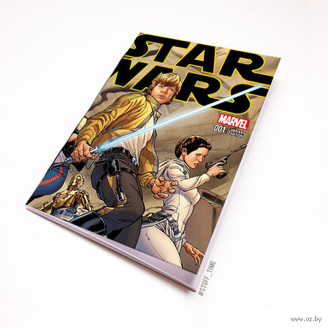 "Блокнот белый ""Звездные войны"" А5 (арт. 414)"