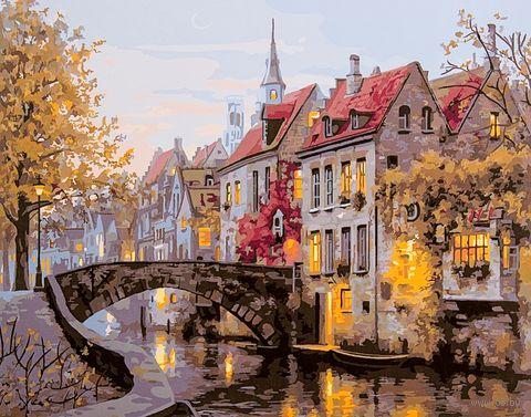 "Картина по номерам ""Красота старой Европы"" (400х500 мм) — фото, картинка"