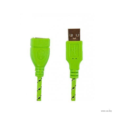 Кабель Partner 30632 USB 2.0 3м (А-А) удлинитель m/f (зеленый) (030632) — фото, картинка