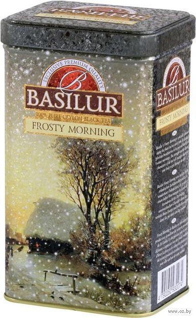 """Чай черный листовой """"Basilur. Морозное утро"""" (85 г; в банке) — фото, картинка"""