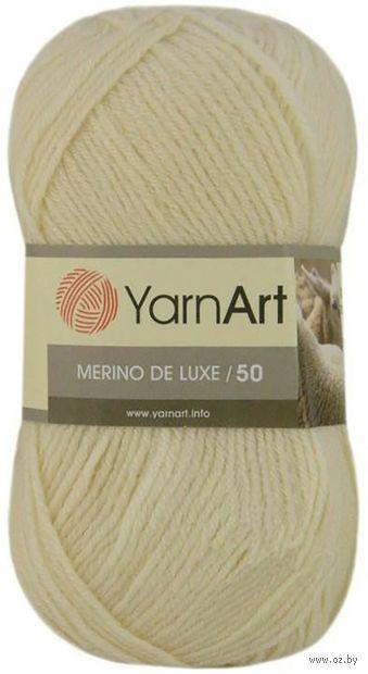 """Пряжа """"YarnArt. Merino de Luxe №502"""" (100 г; 280 м; молочный) — фото, картинка"""