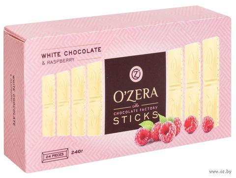 """Шоколад белый """"O'Zera. White&Raspberry"""" (240 г) — фото, картинка"""