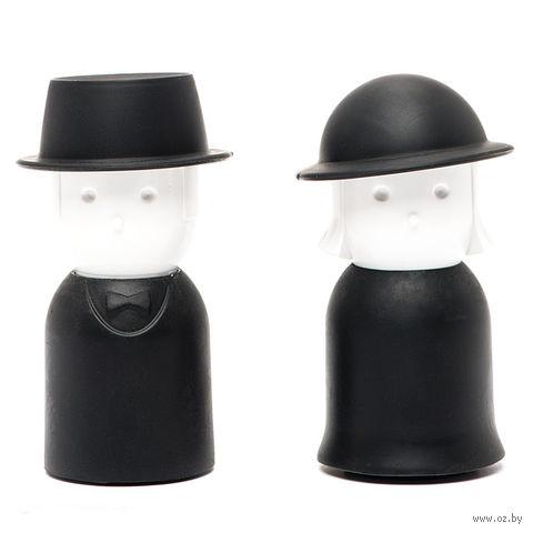 """Солонка и перечница """"Mr.Pepper & Mrs. Salt"""" (черный)"""