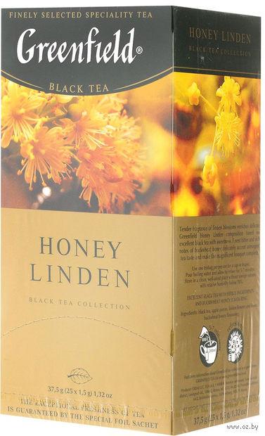 """Чай черный """"Greenfield. Honey Linden"""" (25 пакетиков) — фото, картинка"""