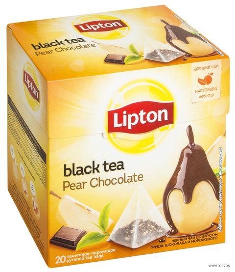"""Чай черный """"Lipton. Pear Chocolate"""" (20 пакетиков) — фото, картинка"""