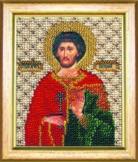 """Вышивка бисером """"Святой мученик Евгений"""" (90х110 мм) — фото, картинка"""