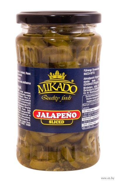 """Халапеньо маринованный """"Mikado. Резаный"""" (370 мл) — фото, картинка"""
