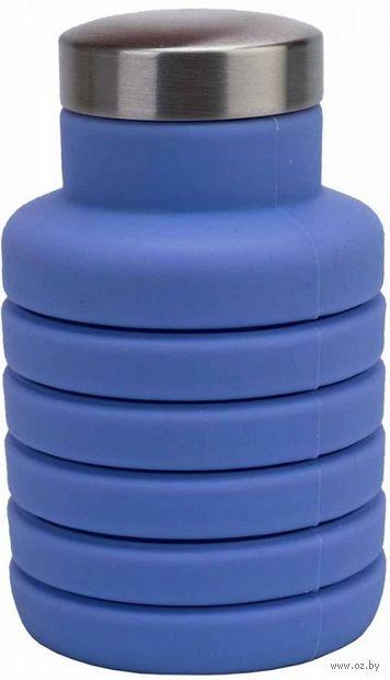 Бутылка для воды складная (500 мл; фиолетовая) — фото, картинка