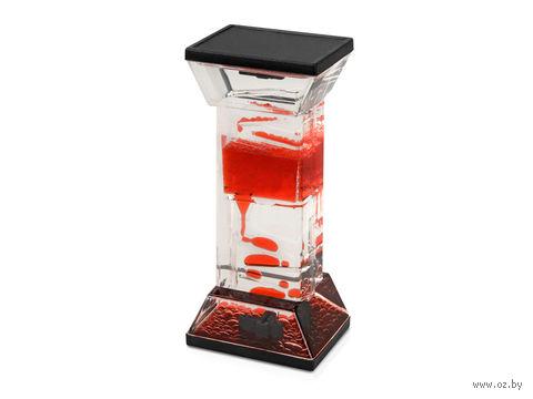 Жидкостная фигура для релаксации (черная/красная)