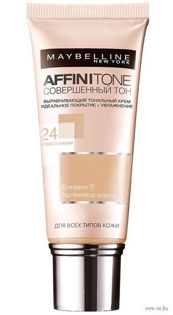 """Тональный крем для лица """"Affinitone"""" (тон: 24, золотисто-бежевый; 30 мл)"""