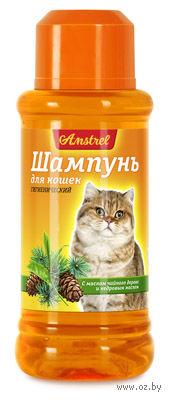 """Шампунь для кошек """"Amstrel"""" (320 мл; с маслом чайного дерева и кедровым маслом) — фото, картинка"""