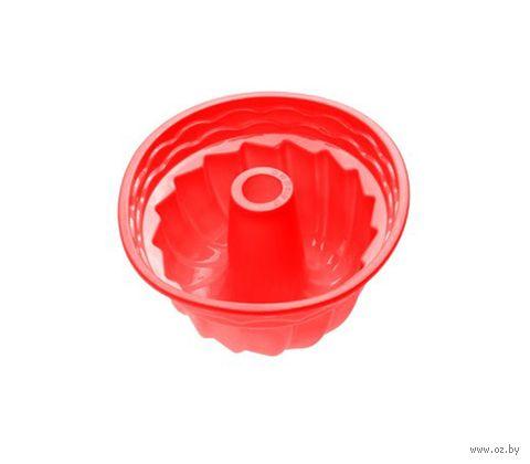 """Форма для выпекания силиконовая """"Кекс"""" (240х105 мм; красная) — фото, картинка"""