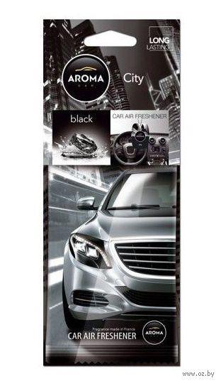 "Ароматизатор подвесной ""City Card"" (black) — фото, картинка"