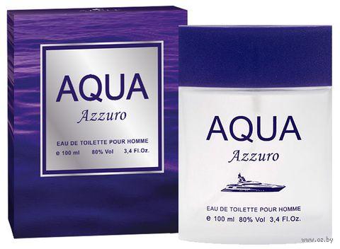 """Туалетная вода для мужчин """"Aqua Azzuro"""" (100 мл) — фото, картинка"""